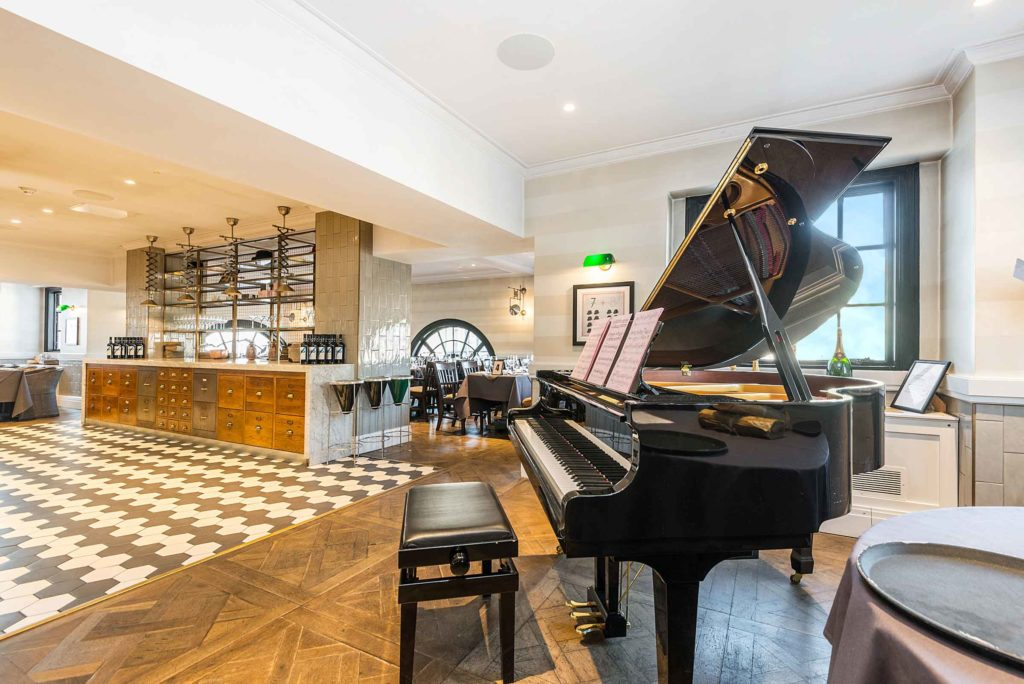 piano in a bar