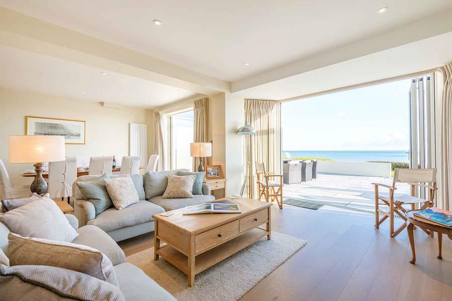 lounge onto sea views and balcony