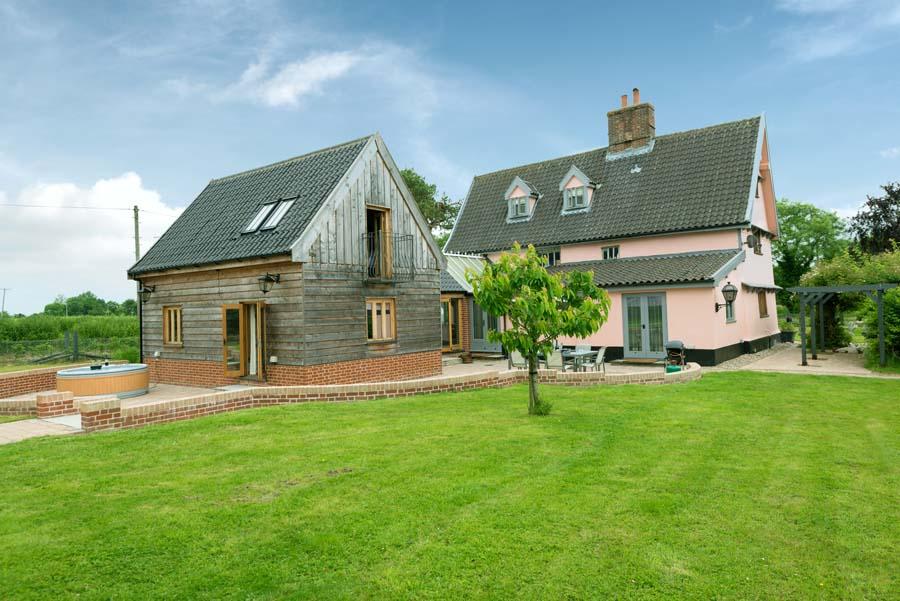 farm house and garden