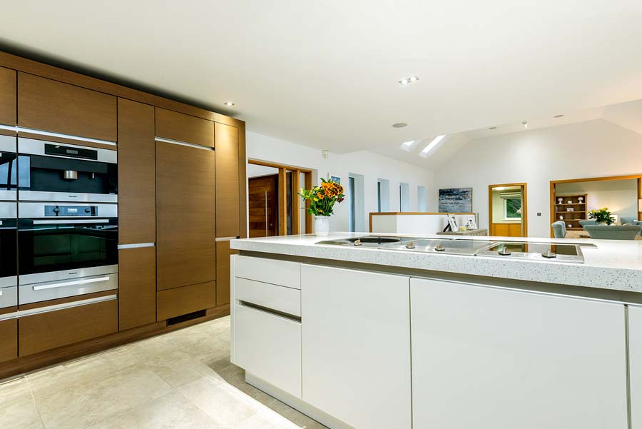 modern kitchen with ovens and sink