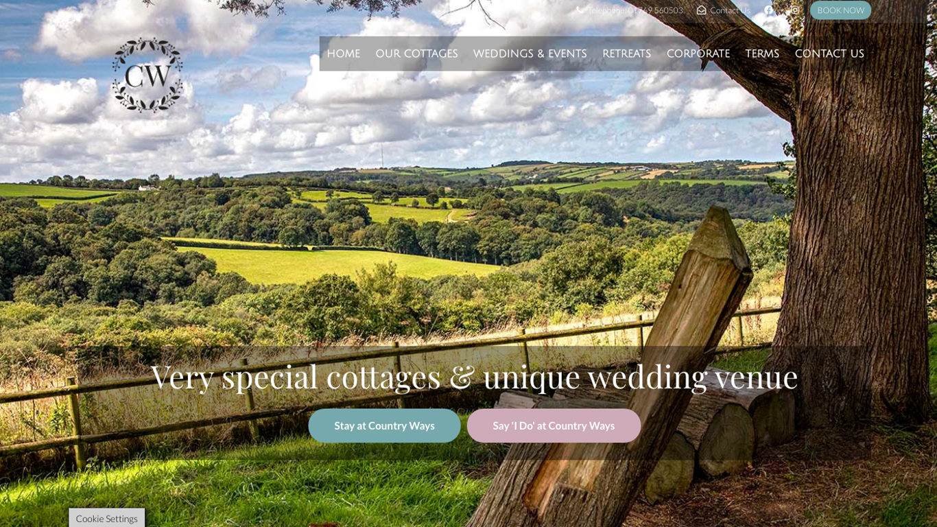 Country Ways Cottages & Wedding Venue