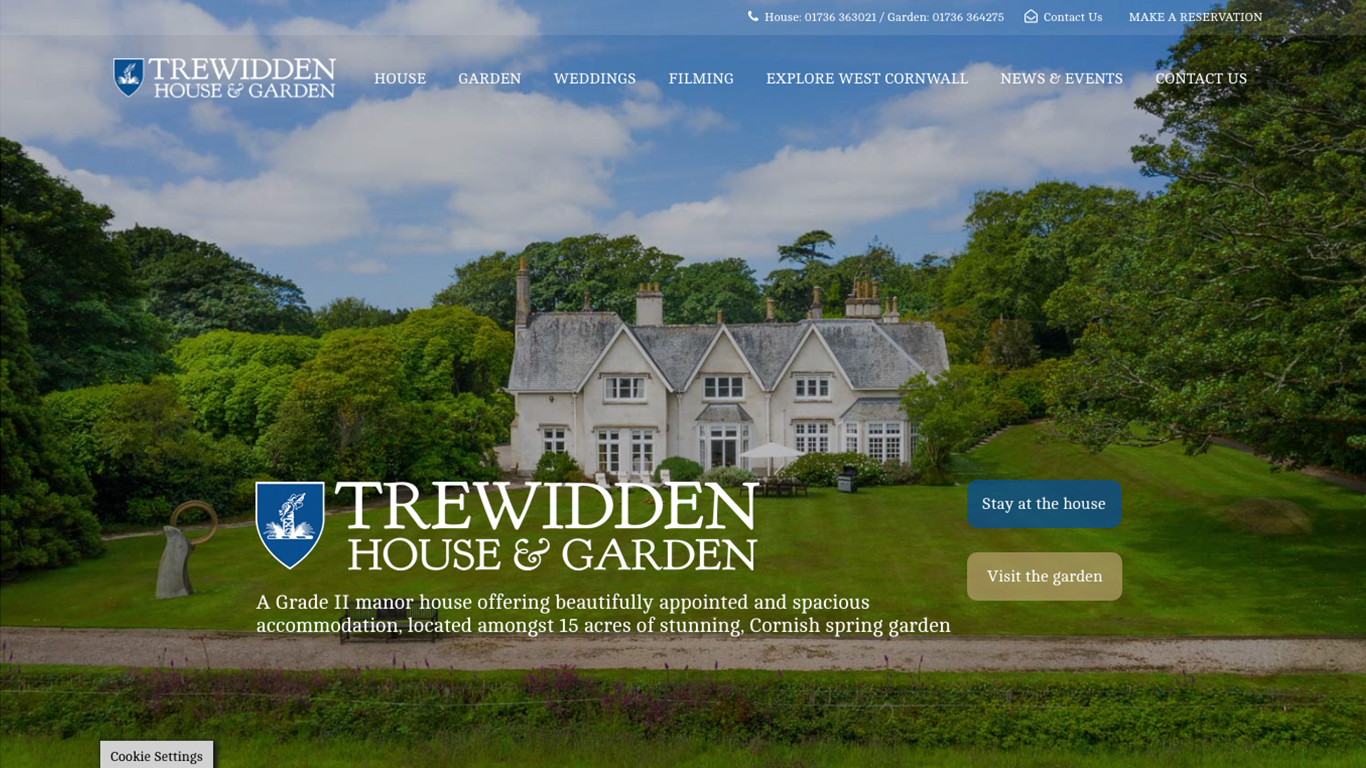 Trewidden house and garden