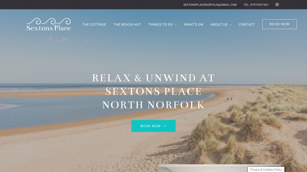 Sextons Place Website by ACT Studios Simplifying the grants available for Holiday lets in UK