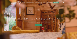 Sweet Donside Cabins and Sweetheart Cottage website created by ACT Studios